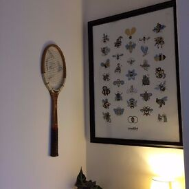 Vintage tennis rackets and frames perfect for upcycle projects