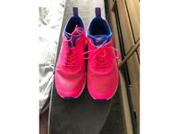 Nike Thea pink and blue trainers