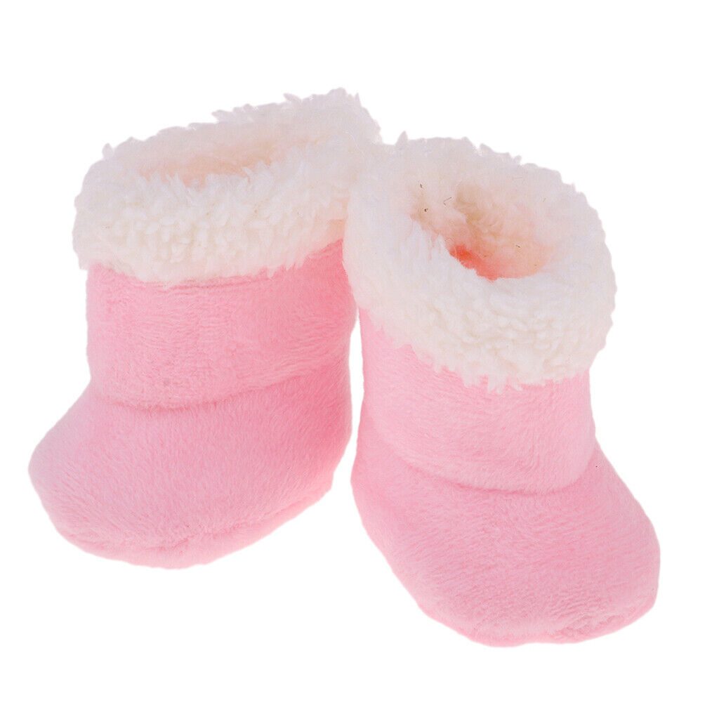 Pink Plush Shoes Boots for Mellchan Baby Doll 9-11inch Girl Doll Snow Boots