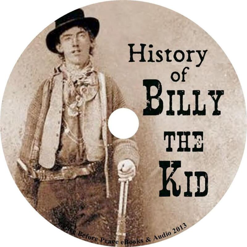 History of Billy the Kid, Charles Siringo Audiobook unabridged on 2 Audio CDs