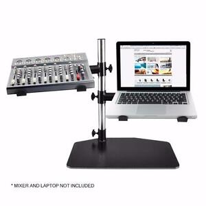 PYLE PLPTS45 Dual Arm Universal DJ Laptop,Mixer or Studio Equipment Holder Stand