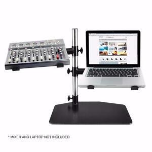 PYLE PLPTS45 Dual Arm Universal DJ Laptop,Mixer or Studio Equipment Holder Stand