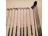 LEFT HANDED Wilson golf clubs, good big with straps and accessories
