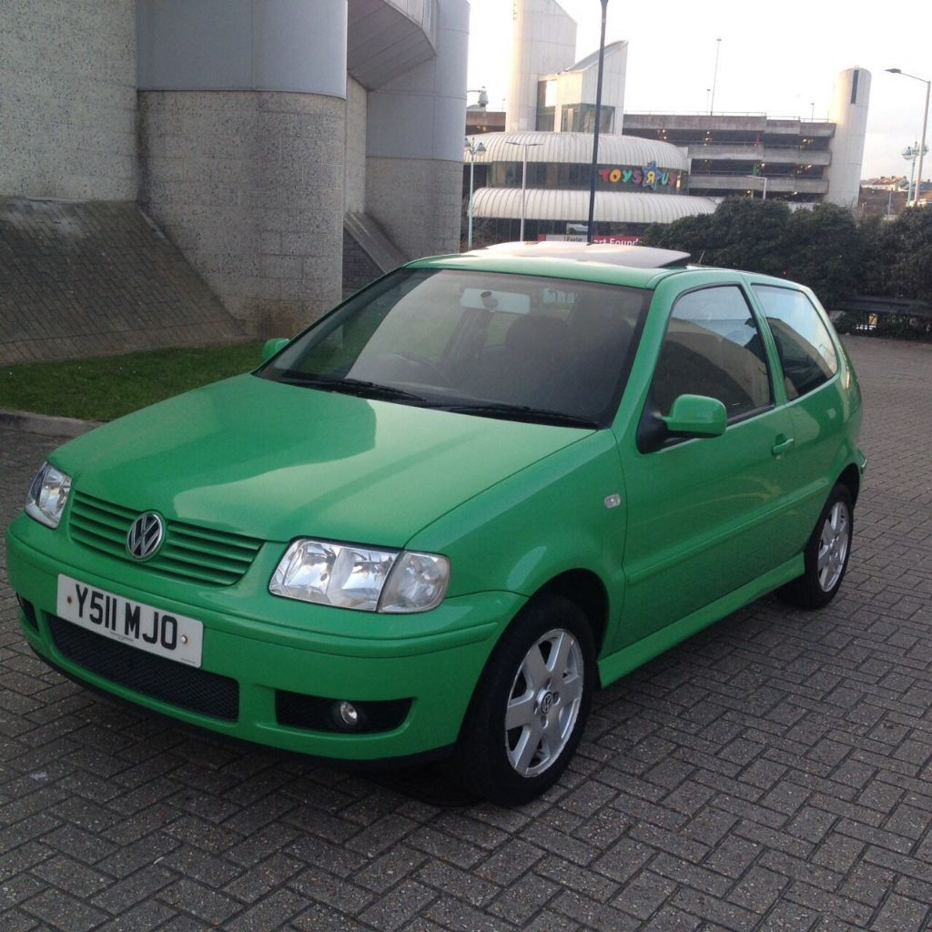 2001 volkswagen polo se 1 4 3 doors green long mot nice looking car in plymouth devon. Black Bedroom Furniture Sets. Home Design Ideas