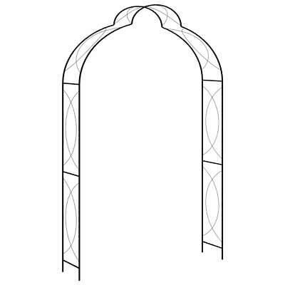vidaXL Garden Arch Black 150cm Iron Home Lawn Outdoor Archway Pergola Trellis
