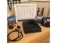 Black Playstation 500GB in Great Condition with Games