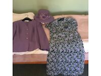 Ladies Eastex, 3-piece suit, size 10, with matching hat.