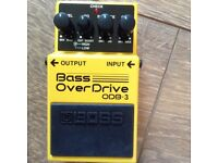 Boss overdrive peddle for bass guitar