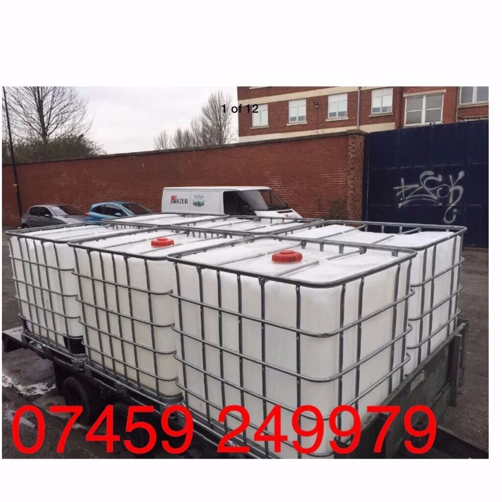 1000LT Ibc containers (steam-cleaned) FREE delivery within
