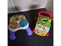 Vtech baby walker and activity table