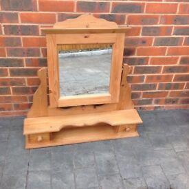 Pine freestanding mirror