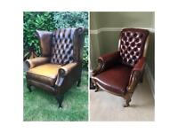 Leather chesterfield chairs
