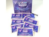 7 x Genuine Crest 3D Teeth Whitening Strips / Dental Whitening Treatment - 2 Per Pouch New / Sealed
