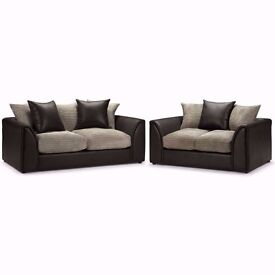 """""""""""""""""""SAME DAY FAST DELIVERY"""""""""""""""" Brand New Byron 3 nd 2 sofa or corner sofa in jumbo cord fabric"""