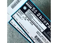 Ed Sheeran Tickets £100 for 2