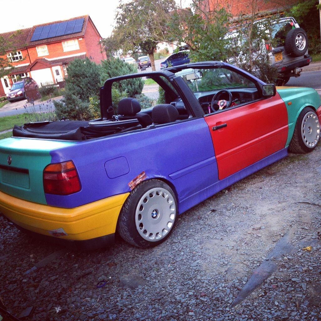 mk3 golf cabrio harlequin convertible 1 of a kind modified in tonbridge kent gumtree. Black Bedroom Furniture Sets. Home Design Ideas