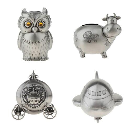 как выглядит Vintage Sheep/Owl/Airplane/Pumpkin Shape Coin Piggy Bank Zinc Alloy Metal фото