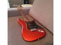2013 Fender FSR Stratocaster (Flame Orange) rare colour limited edition, with hard case