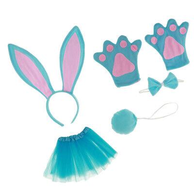 mädchen bunny kaninchen stirnband tutu rock kostüm zubehör set fancy (Mädchen Bunny Kostüme)