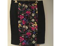 M&S floral panel skirt size 16