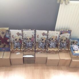 Boxed, new, collectable meerkats with certificates, pet /smoking free home