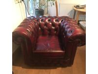 Chesterfield Clubman Armchairs - Oxblood Red