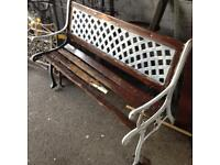 Cast iron garden bench £20