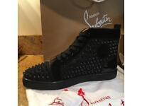 Christian Louboutin Louis Strass high tops spike black