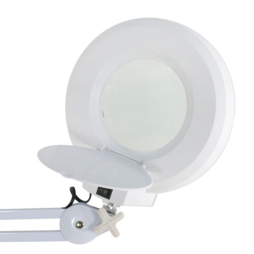 5x Magnifier Lamp Glass Adjustable Rolling Floor Stand Magnifying 16 Diopter Jewelry & Watches