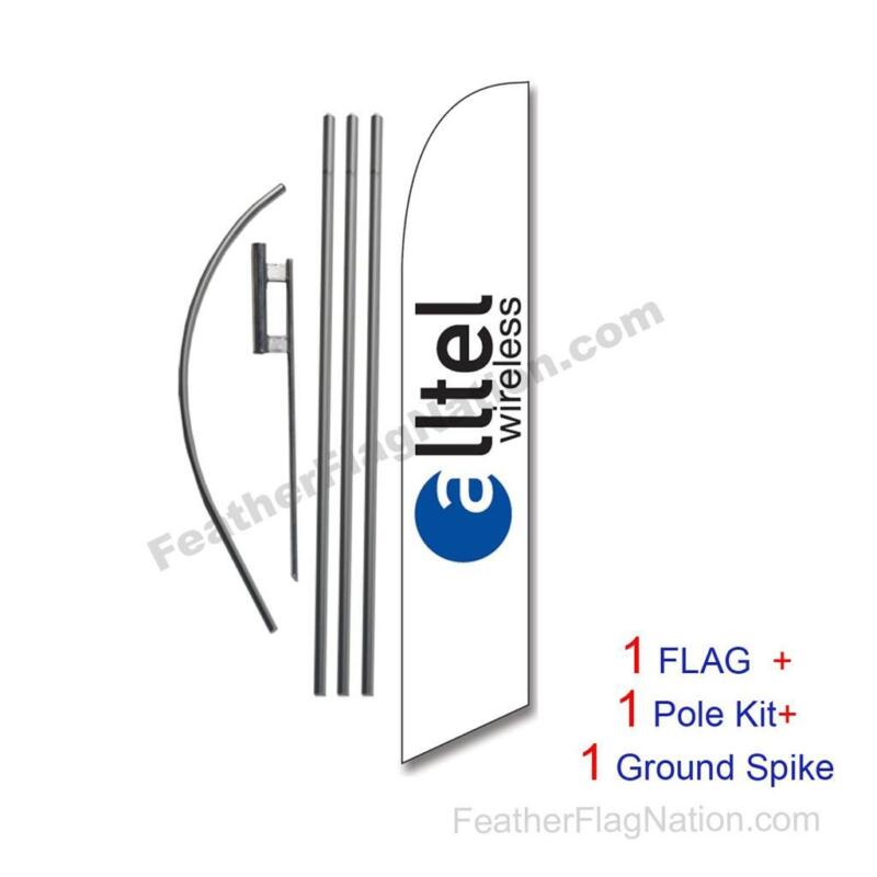 ALLTEL Wireless Feather Banner Swooper Flag Kit with pole+spike