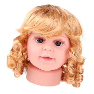 Realistic Baby Child Head Mannequin Head With Wig For Hat Cap Display 15