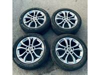 """MINT CONDITION MERCEDES 17"""" GENUINE WHEELS WITH TYRES ALLOYS"""