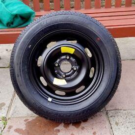 Bridgestone Turanza 195-65R-15 Car Tyre & wheel BCD 108x108