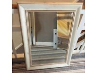 Brushed wood effect mirror