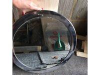 Steel Silver Round Circular Mirror FREE