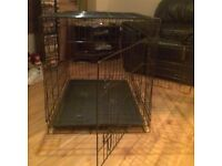 Large dog cage two doors each side opening and lockable