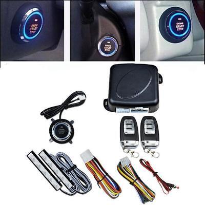 Car Alarm Engine Ignition Start Push Button Remote Start Keyless Go System