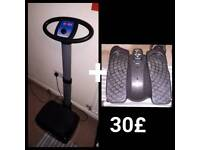 Vibration trainer and Reebook stepper