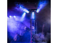 Full DMX Lighting Setup 4 LED Flood Lighting Colour Changers On Tripod Stand Cable & Accessories DJ