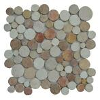 Mozaïek Coin Mix Onyx/Cream/Yucatan Brown Marmer 30x30 cm...