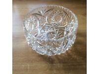 Large Cut glass fruit bowl