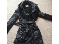 River Island leather coat size 12