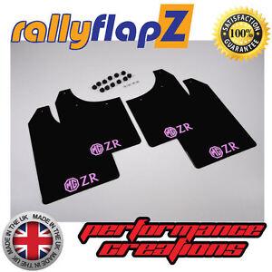 rallyflapz-ROVER-MG-ZR-01-05-Hatchback-PARAFANGHI-NERO-3mm-PVC-LOGO