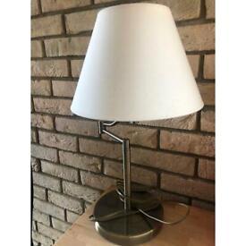 Cream heavy brass table lamp