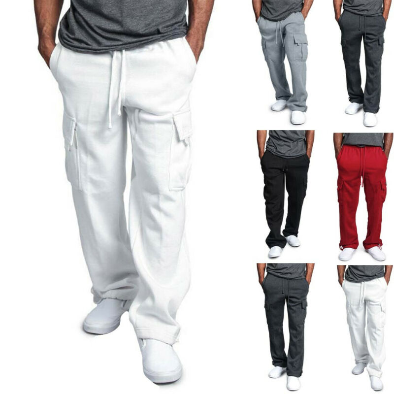 ⭐G-Style USA Men's Jogger Heavy Weight Fleece Cargo Pocket