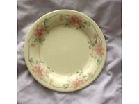 A Staffordshire Pink and Green Side Staffordshire Plate