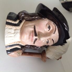 ATHOS MUSKATEER ROYAL DOULTON CHARACTER JUG 7 in tall