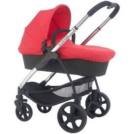 iCandy Strawberry 2 Pushchair with Chrome Chassis, Carrycot & Lush Hood