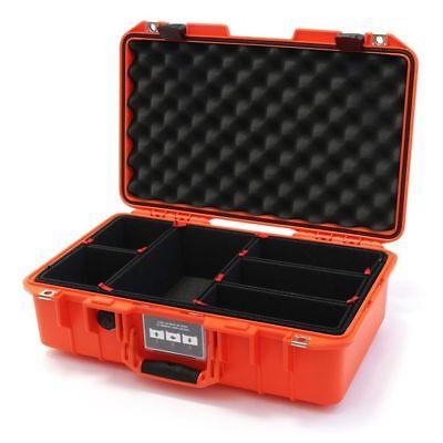 Orange and Silver Pelican 1485 Air case with TrekPak dividers.
