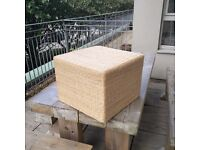 Large wicker pouffe /table